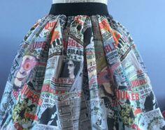 Ladies or girls Harry Potter Quibbler inspired 'In Other News' full skater style skirt