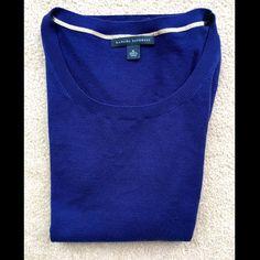 Banana Republic Royal Blue Sweater Medium Banana Republic Royal Blue Sweater | 52% Silk 35% Polyester 13% Cotton Banana Republic Sweaters Crew & Scoop Necks
