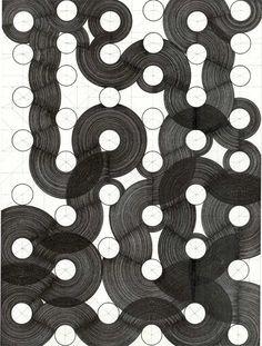 Henri Jacobs - Journal n°353 Witte deeltjes, 2007 Bleistift und Tusche auf Papier, 32 x 24 cm