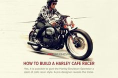 How to build a Harley cafe racer | via Bike Exif