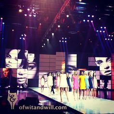 The World Final of #Elite Model Look 2012. The girls walk in colorful #minimal shift dresses. #modeling