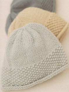 Rowan knitting patterns, 10 Simple Projects For Cosy Babies, Moss Stitch Hat, from Laughing Hens