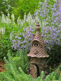 He loves his job; living in the garden and providing a dwelling for gnomes, fairies, or other tiny woodland creatures. Description from etsy.com. I searched for this on bing.com/images
