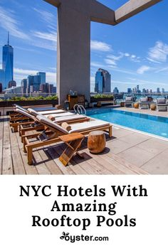 It's no secret that rooftops are highly sought-after spots in New York City -- the striking city and river views, plus the distance from honking cabs and pedestrian-filled streets, make for a slice of paradise. And while several hotels have lovely pools on lower levels inside or out, there's something far more alluring about a rooftop pool. We rounded up the best of these in NYC, so you can beat scorching temps with refreshing dips alongside gorgeous vistas.