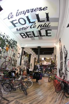 BIke shop Ceeling - pict by Paolo Martelli by eme , via Behance