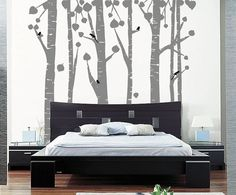 Aspen Forest  Vinyl Wall Decor by GoatGrinStudio on Etsy, $128.00  I LOVE THIS!