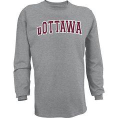 Product: University of Ottawa Long Sleeve T-Shirt