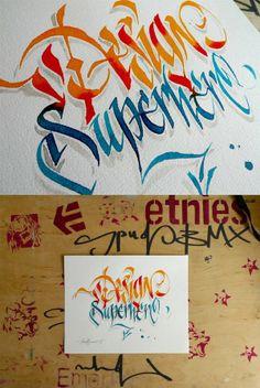 Calligraphy by THEOSONE Adam Romuald Klodecki, via Behance