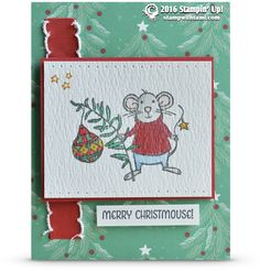 CARD: A Merry Mice and Jar of Cheer Cute Christmas Collaboration | Stampin Up Demonstrator - Tami White - Stamp With Tami Crafting and Card-Making Stampin Up blog