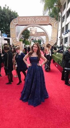 The beautiful TV Star Raya Abirached on her pregnancy, looking stunning at the Golden Globes in her Tony Ward princess dress!