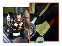 Too frequently firefighters come upon a car wreck where the mom is unconscious and there are children in the car who are too young to speak or communicate anything useful to the rescue team. ADVICE: Place a sticker on each child's car seat providing information that can help rescuers. Include: child's name & DOB, parent's names, DOB & phone, emergency contact info, child's doctor, any medical issues.