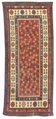 antique Talish rug, South Caucasus     256cm. x 112cm.(8ft.5in. x 3ft.8in.)  I Christie's Sale 4941
