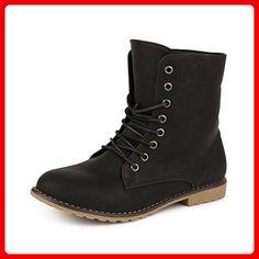 Smilun Damen Halbschaft Schnürstiefel Damen Chelsea Boots Damen Combat Boots Westernabsatz Grau EU38 b1qMfW