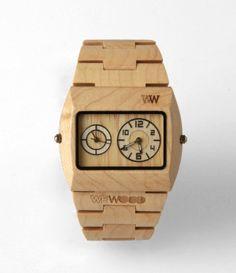 wooden wrist watch
