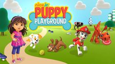 ♥ Nick Jr. ♥ Puppy Playground Paw Patrol, Dora And Friends, Bubble Guppi...
