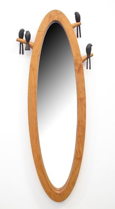 Birdie Mirror by Sylvie Rosenthal: Wood Mirror available at www.artfulhome.com