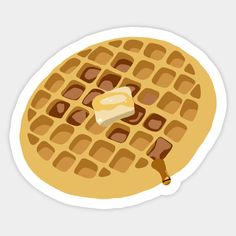 Waffle with syrup and butter sticker from the series Stranger Things.