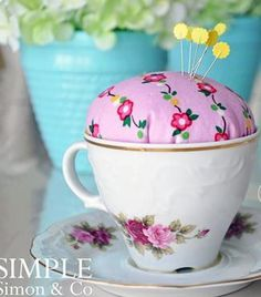 Forget about boring pincushions and bring some individuality to your sewing space with this fun Little Teapot Pincushion Tutorial. Transform an old thrift store teapot into a whimsical pincushion with this unique no-sew craft project. This sewing organizer is an adorable way to stow your sewing pins and is a great way to keep your pins organized if you have pets or grandbabies around. This beginner craft project is a super quick make and is the perfect DIY gift idea for Christmas or…