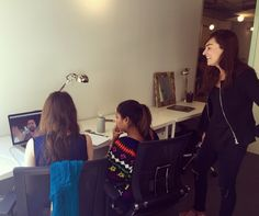 The DreamWakers team watching a flashchat with NYC chef Sam Crocker.