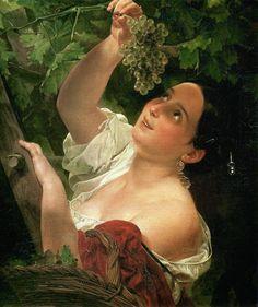 Mediodía italiano (quitando italiano uvas). 1827. Óleo sobre lienzo. 64 x 55. El museo ruso del estado, St Petersburg, Rusia.