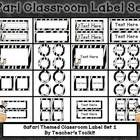 FREE Jungle Themed classroom  The zip file contains the following: Cover pag...