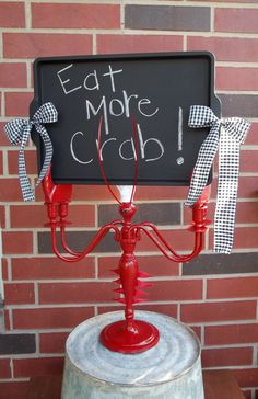 Lobster Sign Custom Resturant Chalkboard by SecondChanceUpcycles, $65.00