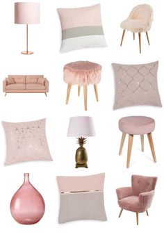 So Blush Inspiration Board. Pink interiors to make you blush.from stunning sofas to luscious lighting ideas, take a look at this Inspiration Board from Maisons du Monde for some fabulous blush pink décor inspiration. Rose Gold Room Decor, Rose Gold Rooms, Pink Bedroom Decor, Room Ideas Bedroom, Warm Bedroom, Blush Pink Bedroom, Sofa In Bedroom, Blush Pink And Grey Bedroom, Blush Pink Living Room