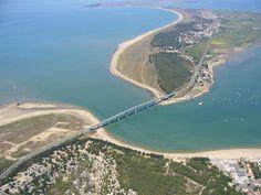 Noirmoutier Island Bridge over Atlantic Ocean, Barbatre, France