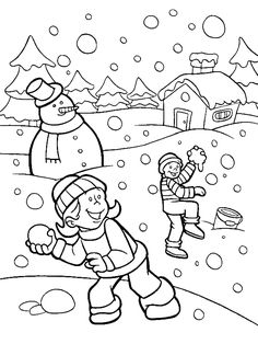 Free Coloring Pages Winter Scenes from Have fun with Winter Coloring Pages. Below you can find the winter coloring pictures to color. Browse the page and choose the images you like then just print them and color them! Kids Printable Coloring Pages, Snowman Coloring Pages, Coloring Pages Winter, Sports Coloring Pages, Online Coloring Pages, Cool Coloring Pages, Animal Coloring Pages, Coloring Books, Coloring Worksheets