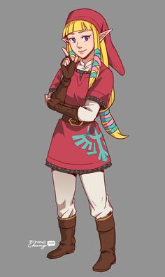 Concept for Zelda's knight outfit! I think people forget that Skyward Sword Zelda was also a student at the knight academy.
