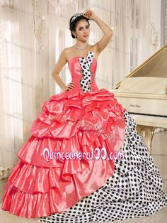 353a64f2bb4 Multi-colored Sweet 15 Dresses Strapless with Pick-ups Wholesale Sweet 15  Dresses