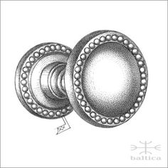 Cranwell round door knob & rose 44mm | bespoke door knobs handcrafted by the master artisans in Lithuania / www.baltica.com / www.balticacustomhardware.com