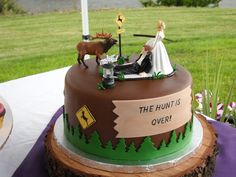 Hunting Theme — Groom's Cakes