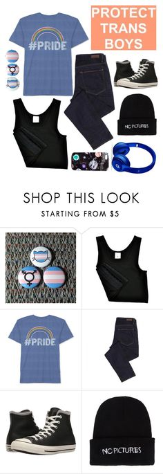 """""""Pride Month 2017: #ProudToBeTrans"""" by sebastian-wolfe-ox ❤ liked on Polyvore featuring Hybrid, Geox, Converse, Nasaseasons, Beats by Dr. Dre, Nikki Strange, pride and ProudToBeTrans"""