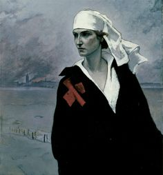 La France Croisee 1914 Romaine Brooks Born: Rome, Italy 1874 Died: Nice, France 1970 oil on canvas 45 x 33 in. x cm) Smithsonian American Art Museum Gift of the artist Romaine Brooks, Natalie Clifford Barney, Women Artist, Ballet Russe, Whistler, Love Painting, Claude Monet, Red Cross, American Artists