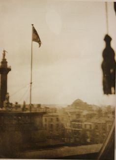 For the first time in 700 years the flag of a free Ireland floats triumphantly over the GPO in Dublin during the Rising. It was made by Mary Shannon captured by the British troops after the surrender of the rebels, was returned to Ireland in 1966 and is on display in the National Museum of Ireland Dublin.