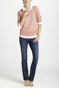 Glimmered Pointelle Sweater
