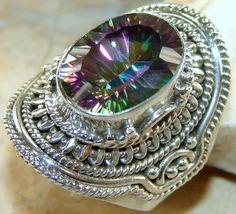 | Rainbow Mystic Quartz 925 Silver ring : wholesale Ring Mystic |