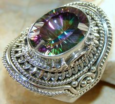 | Rainbow Mystic Quartz 925 Silver ring : wholesale Ring Mystic |