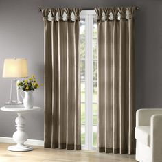 Catelynn Sheer Twist Tab Single Curtain Panel & Reviews | Joss & Main