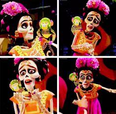 Frida Kahlo Halloween 2018, Fall Halloween, Halloween Party, Halloween Costumes, Coco Disney, Disney Art, Maquillaje Halloween, Halloween Makeup, Disney And Dreamworks