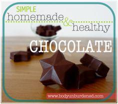 Simple homemade & healthy chocolate - Body Unburdened