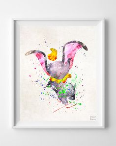 Dumbo Watercolor Art Print by Inkistprints