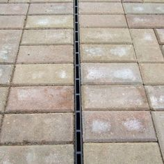 ACO HexDrain Brickslot provides a discreet slot drainage system for domestic block paving installation and threshold drainage. Gutter Drainage, Yard Drainage, Patio Drainage Ideas, Landscape Drainage, Damp Proofing, Drainage Channel, Drainage Solutions, House Extension Design, French Drain