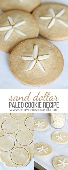 Sand Dollar Cookies - Gluten Free, Grain Free, Sugar Free, Dairy Free, Paleo Friendly Dessert Recipe