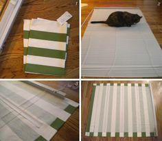 DIY window covering so you can get rid of the mini-blind look, but not the ease!