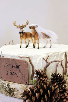 The Hunt is Over Groom's Cake