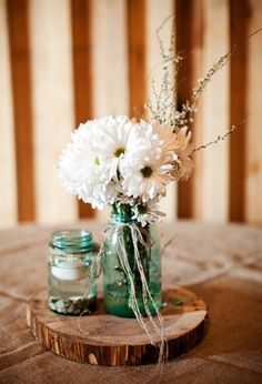 Budget Country Wedding Centerpiece Ideas