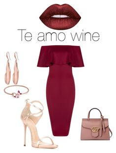 Te Amo Wine by colette-parker-msc on Polyvore featuring polyvore, mode, style, Giuseppe Zanotti, Gucci, Robert Lee Morris, Lime Crime, fashion and clothing