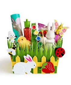 sweet Easter basket. Much better than that Easter grass that gets everywhere.
